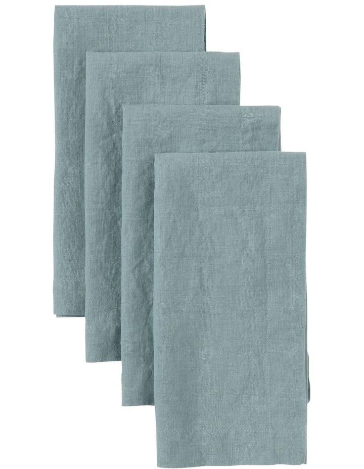 Sandycape Pure Linen Napkin - Ocean image 1