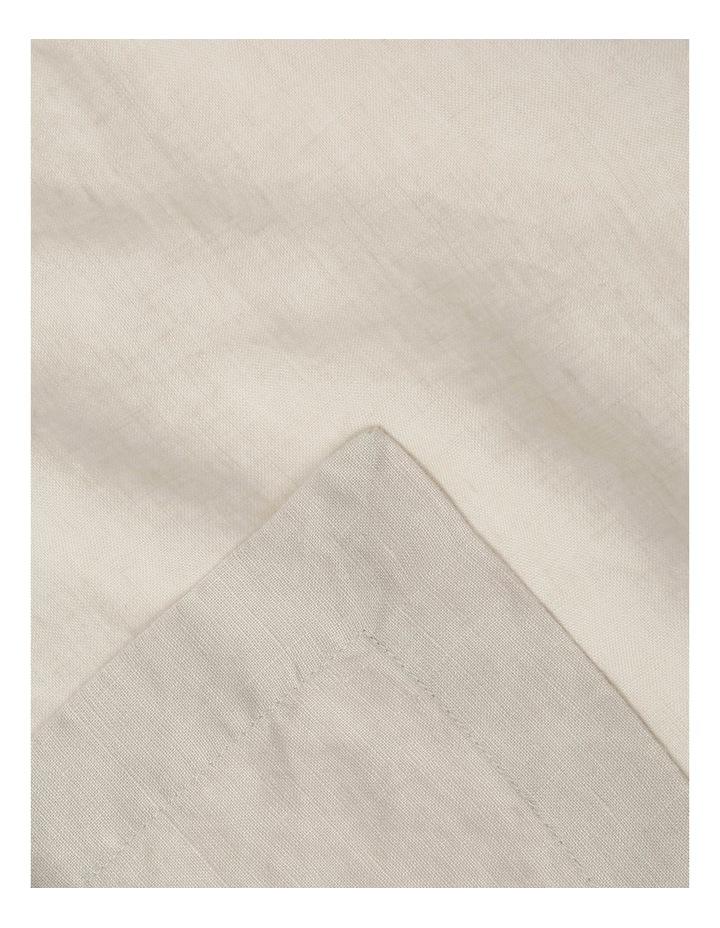 Sandycape Pure Linen Napkin set of 4 Moon Beam image 2