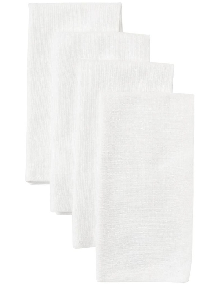 White Manhattan Napkin Set image 1