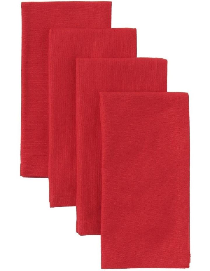 Manhattan Napkin Set of 4 Red image 1