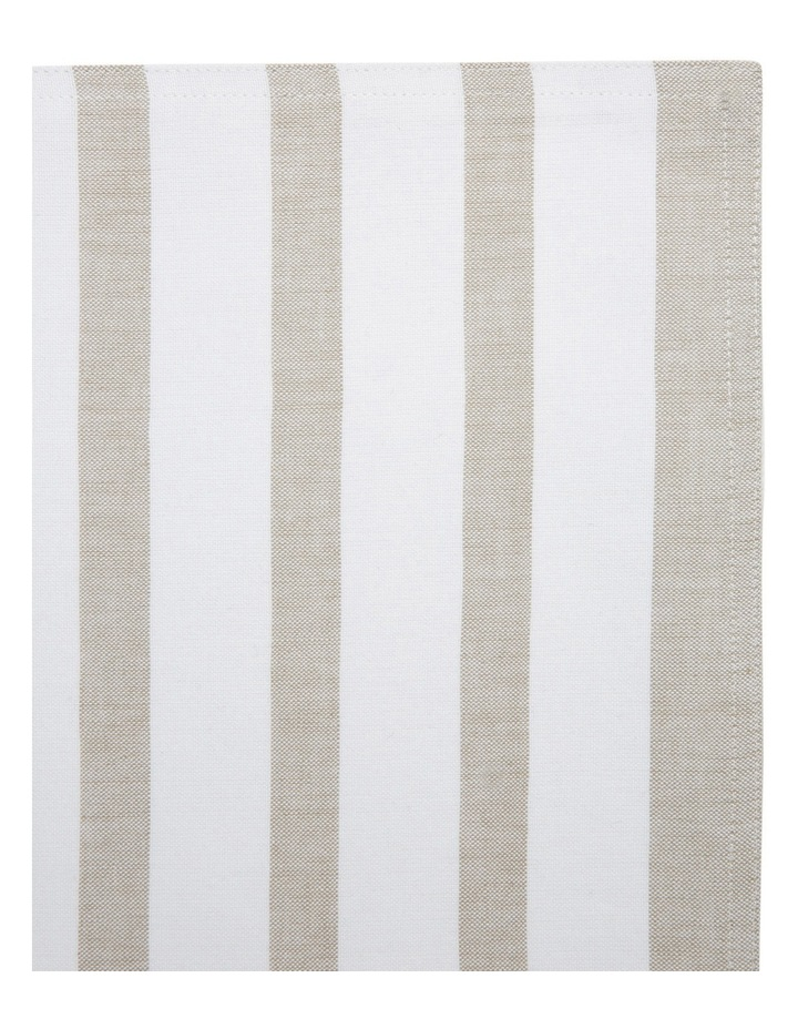 Stripe Cotton Placemat - Taupe & White image 2
