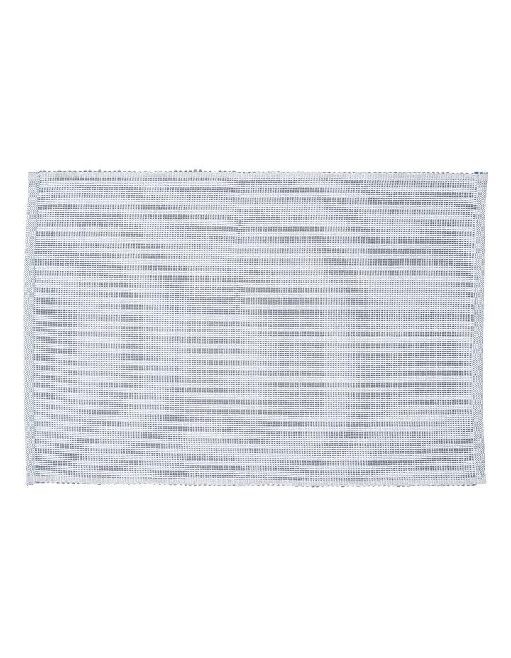 Two Colour Cotton Ribbed Placemat  35x50cm image 1
