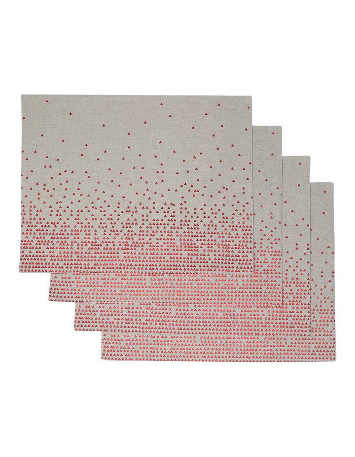 Celestial Fused Placemat Red 4 pack image 1