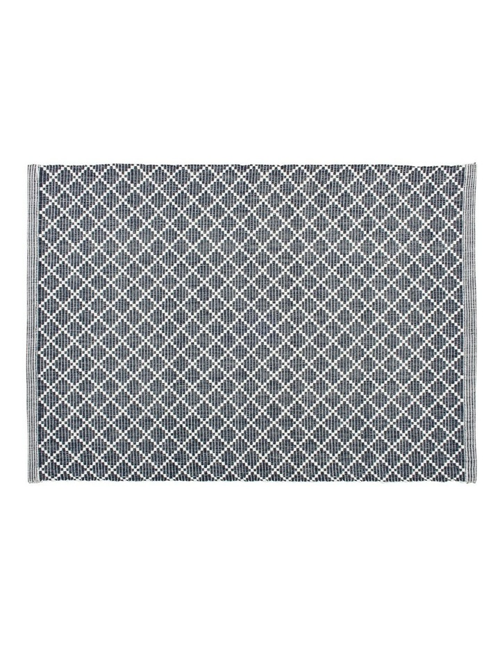 Diamond Ribbed Navy Placemat image 1