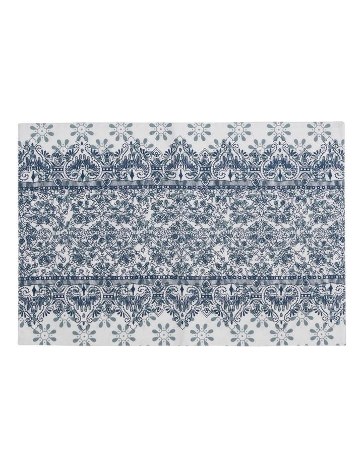 Woodcut Floral Cotton Placemat 33x48cm Set Of 2 image 1