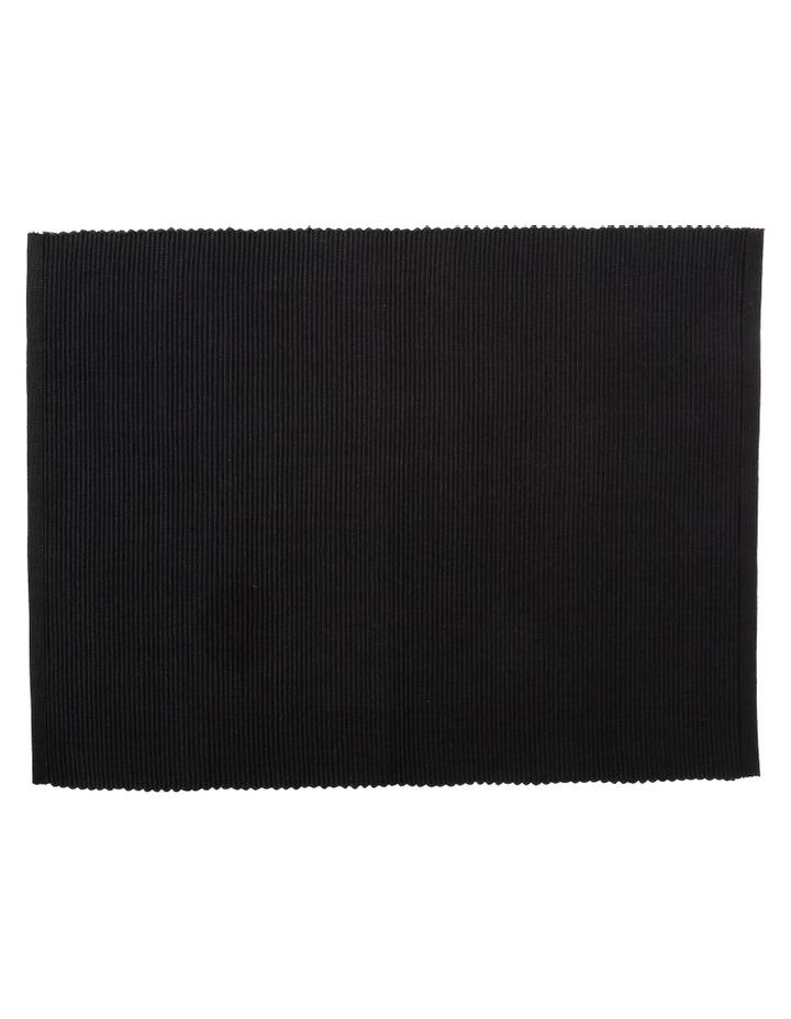 Madisson Ribbed placemat 30 x 45cm Black image 1