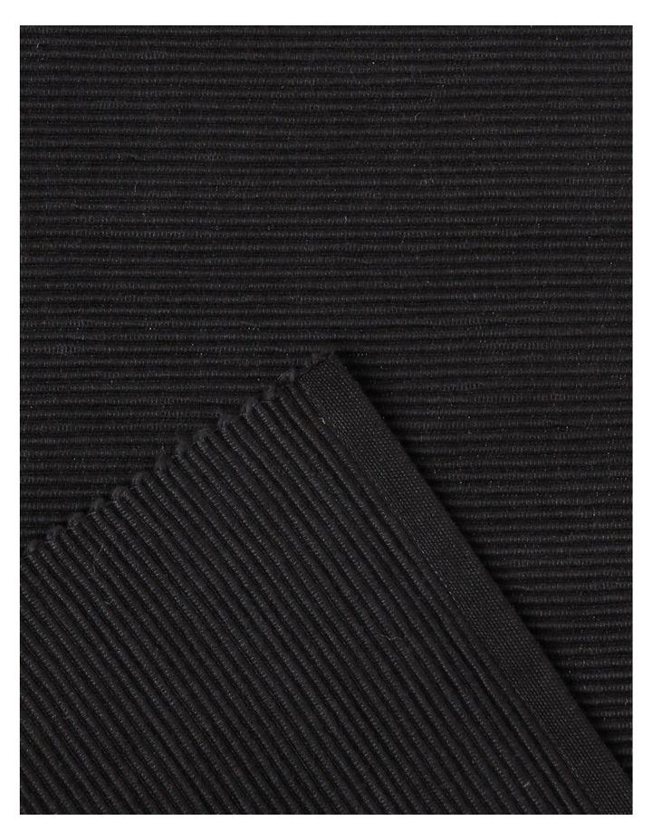 Madisson Ribbed placemat 30 x 45cm Black image 2