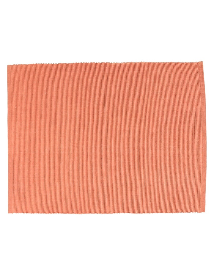 Madisson Ribbed placemat 30 x 45cm Coral image 1