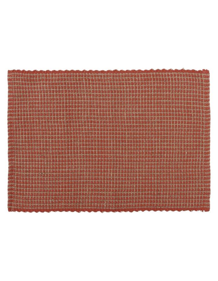 Ezra Placemat 33x50cm Burnt Brick image 1