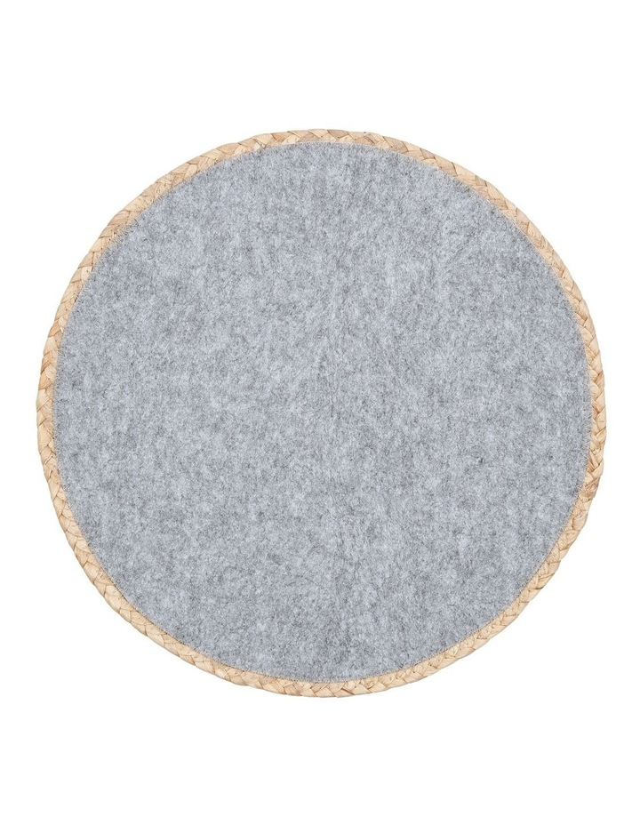 Hugo Round Placemat 38cm Light Grey image 1
