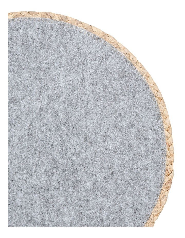 Hugo Round Placemat 38cm Light Grey image 2