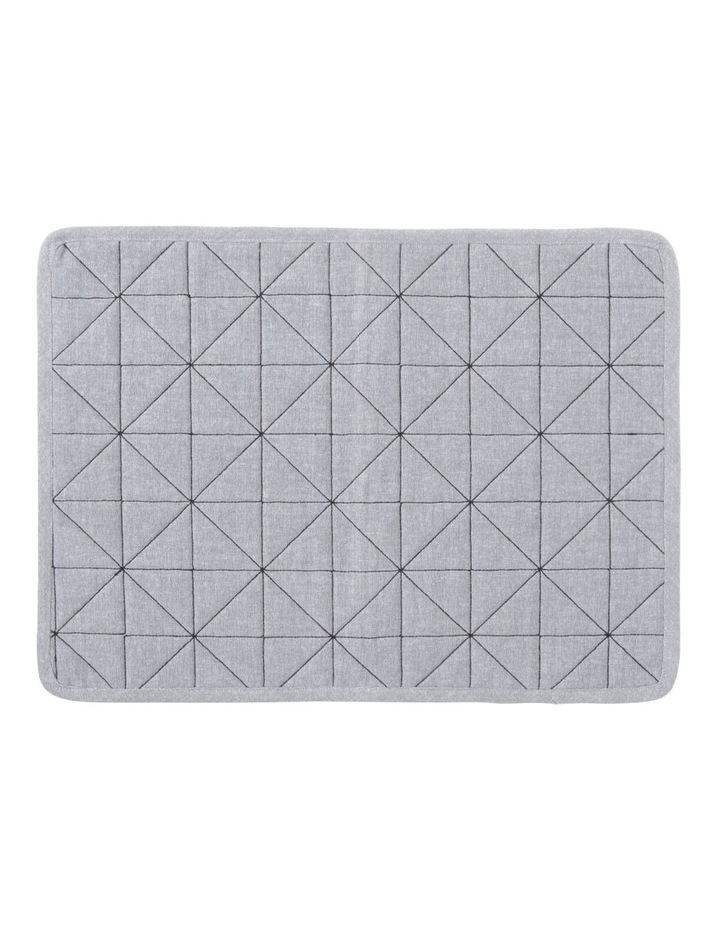 Nominal Placemat 33x45cm Grey With Black Stitching image 1