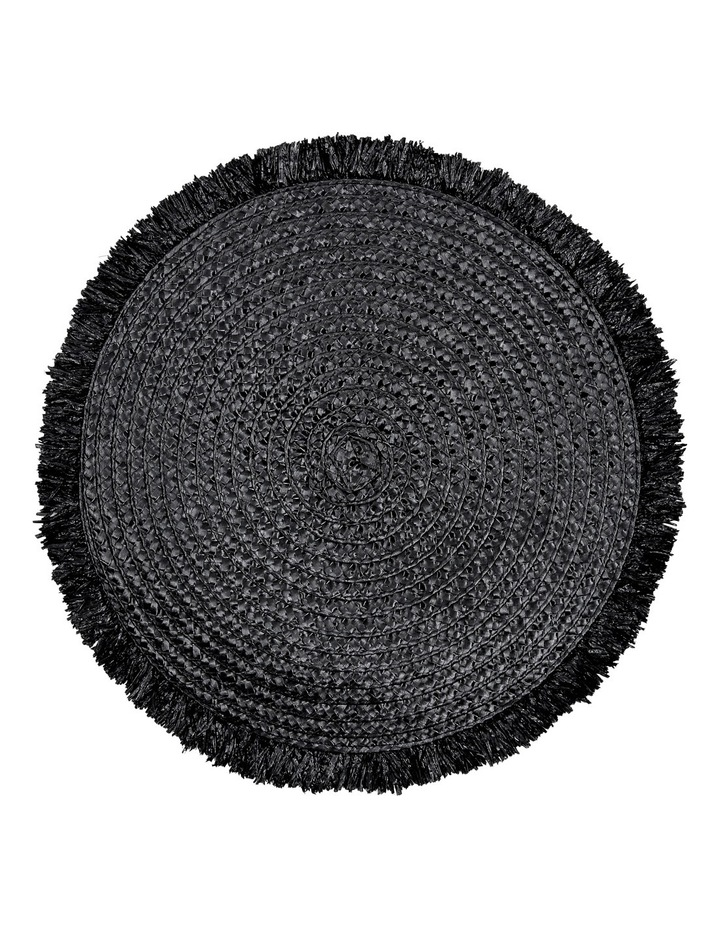 Brazil Fringed Placemat Set of 4 38cm Black image 1