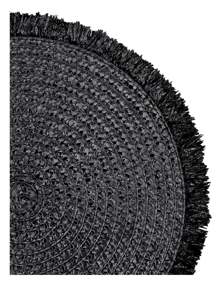 Brazil Fringed Placemat Set of 4 38cm Black image 2