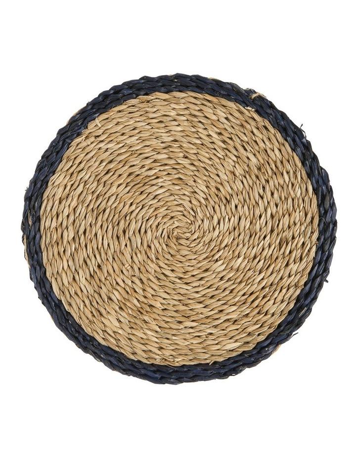 Rivoli Blue Rim Seagrass Placemat image 1