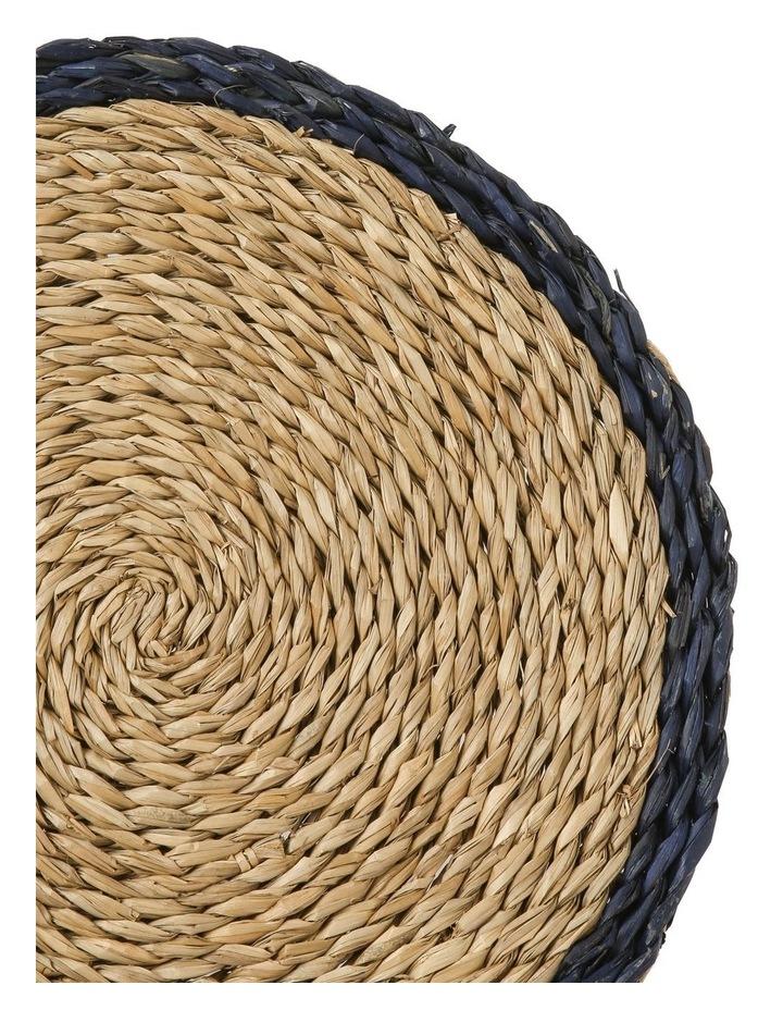 Rivoli Blue Rim Seagrass Placemat image 2