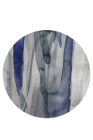 Vue - Abstract Blue Hard Placemat