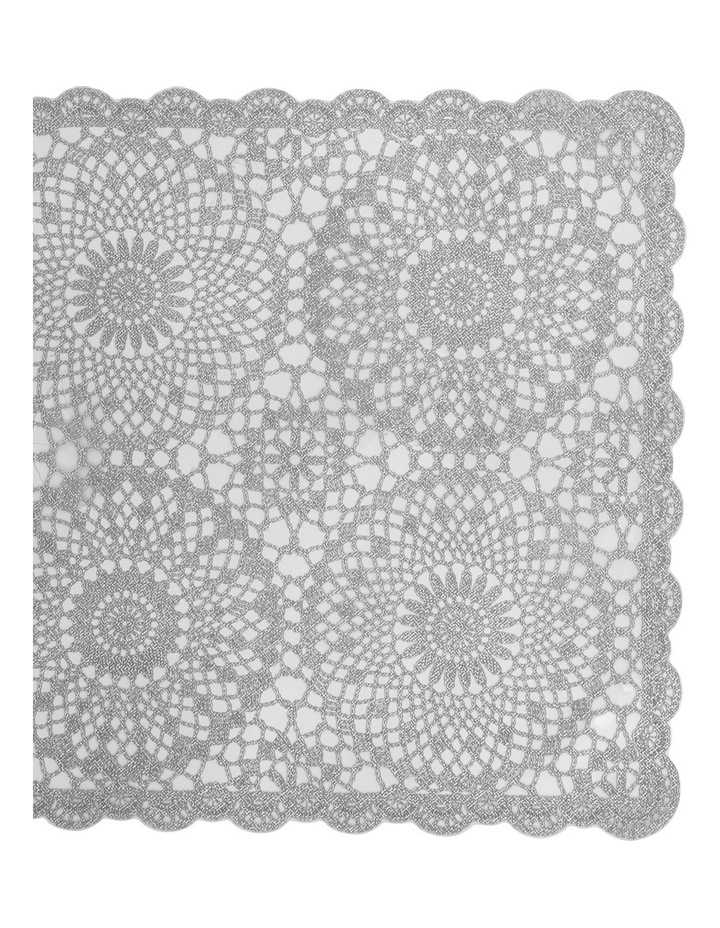 Vinyl lace Silver placemat 30x45cm Set of 4 image 2