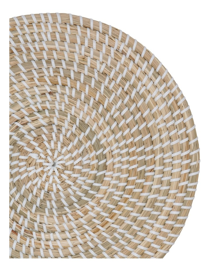 White Woven Seagrass Placemat 32cm image 2