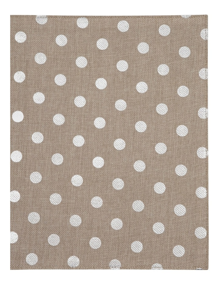 Reversible Polka Dots Foil Printing Silver Placemat Set Of 4 33x45cm image 2