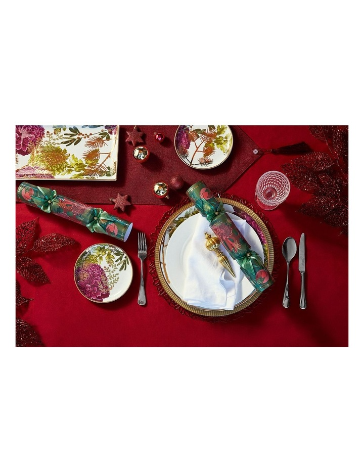 Ava Leaf Round Placemat 38cm Red image 3