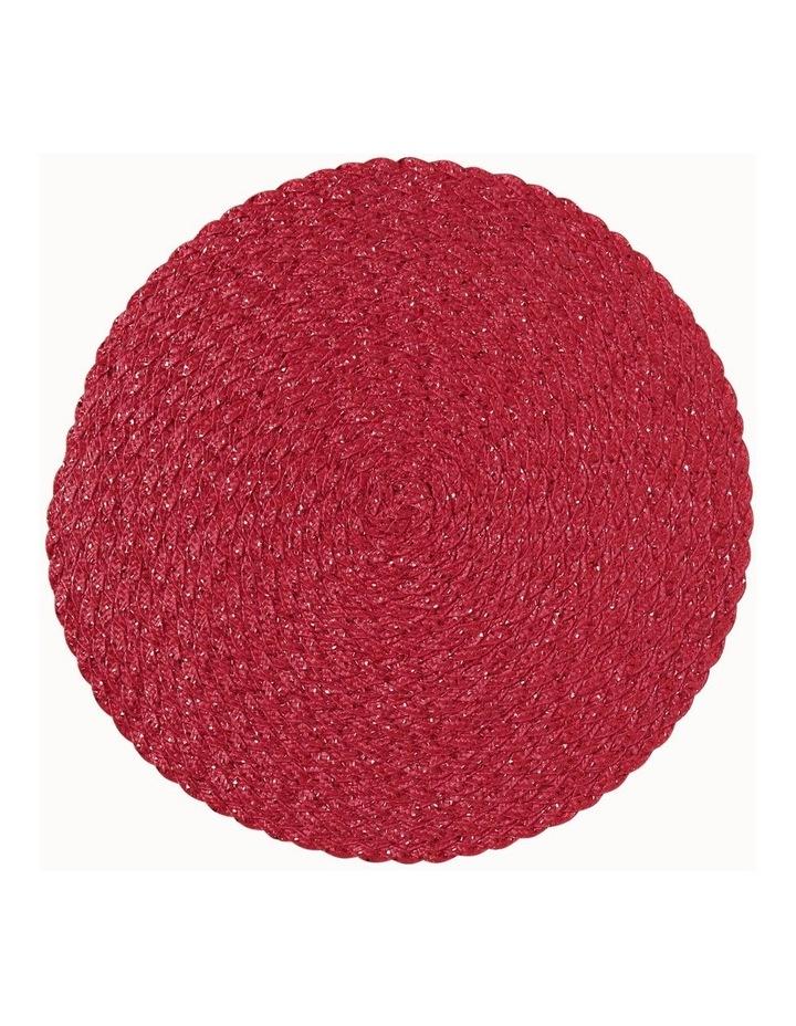 Carol Round Placemat Red image 1