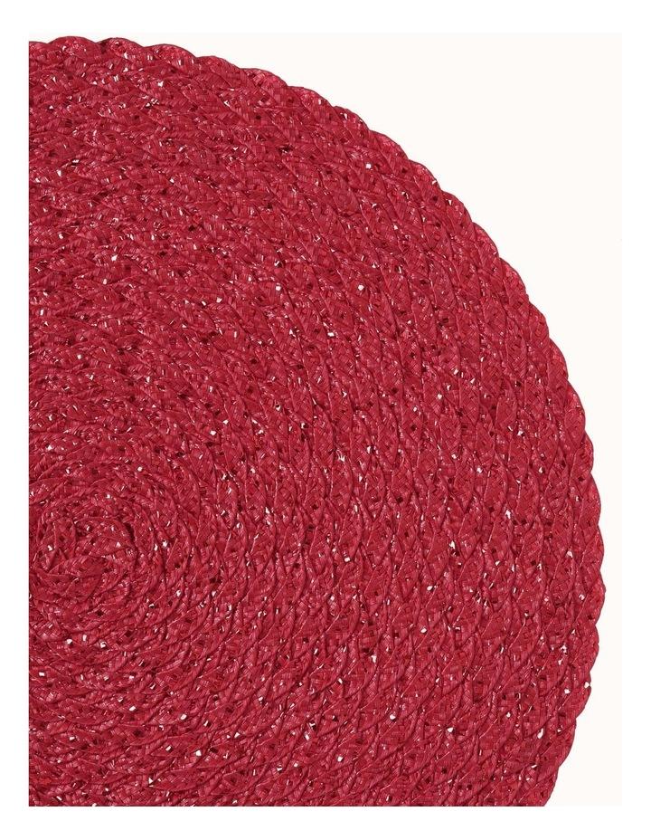 Carol Round Placemat Red image 2