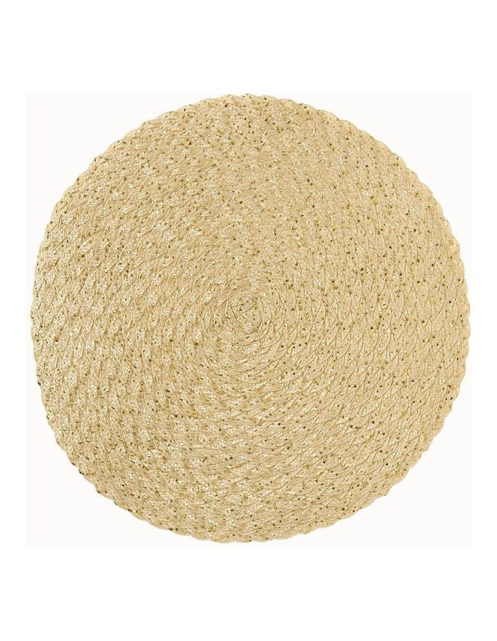 Carol Round Placemat Gold image 1