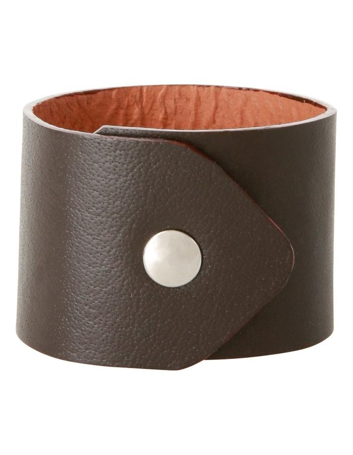 Portsea Nautaul Leather Napkin Rings  Set of 4 image 1