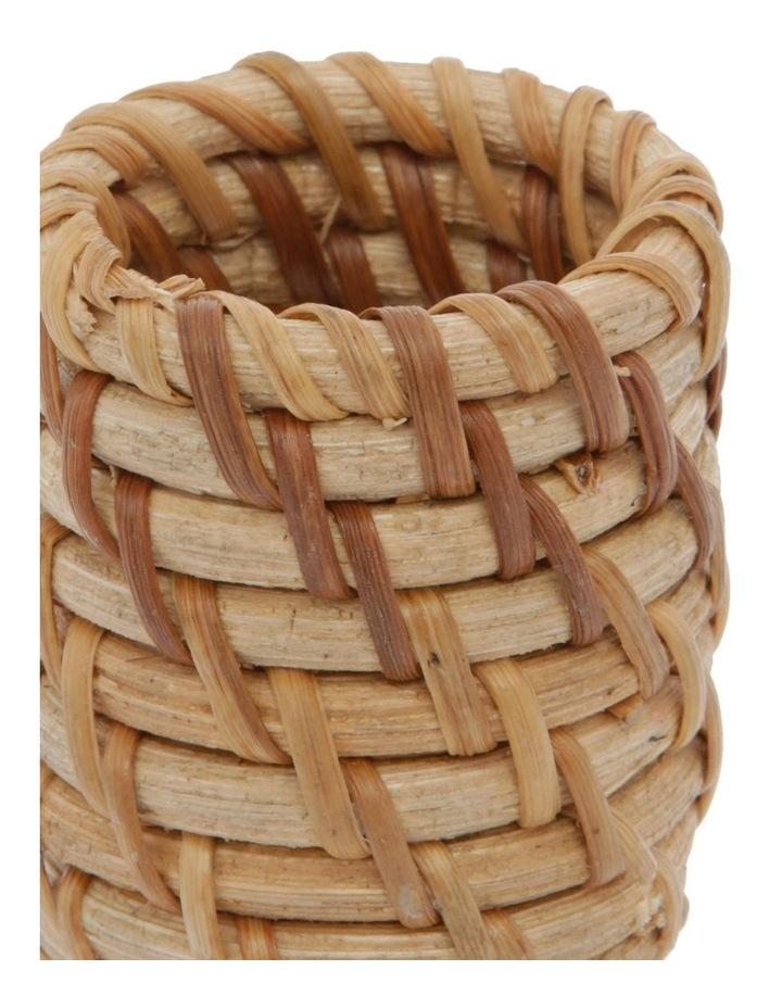 Rattan Napkin Ring Light Natural image 2