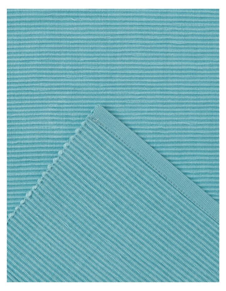 Madisson Ribbed runner 33 x 180cm Milky Blue image 2