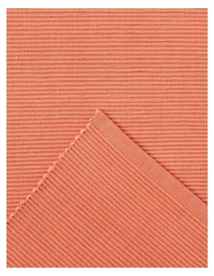 Madisson Ribbed runner 33 x 180cm Coral image 2