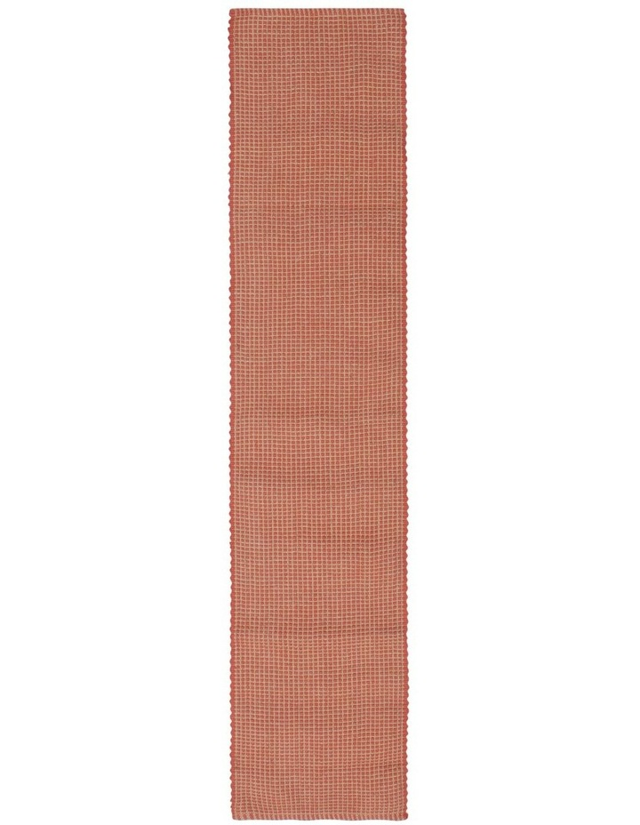 Ezra Table Runner 33X150CM Burnt Brick image 1
