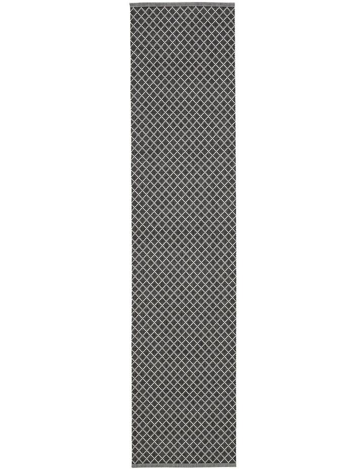 Diamond Ribbed Runner Black image 1