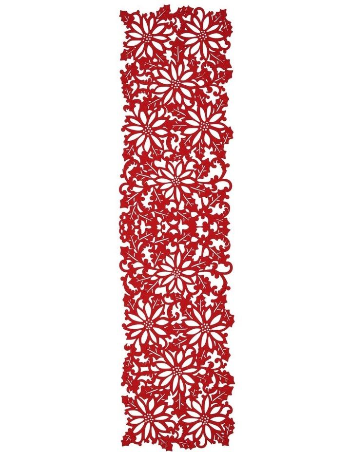Christmas Flower Felt Cut Runner image 1