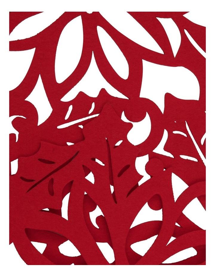 Christmas Flower Felt Cut Runner image 2
