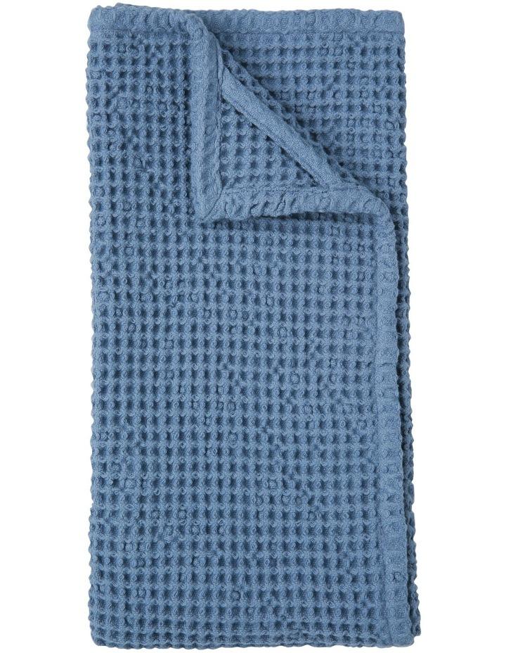 Waffle Weave Kitchen Towel - Blue image 1