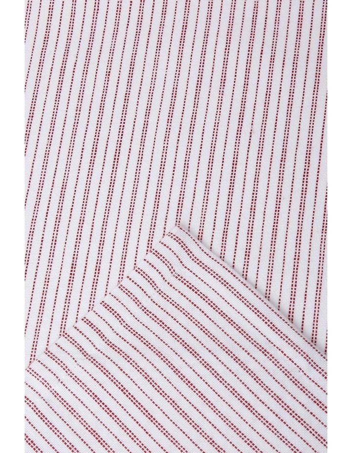 Red Stripe Yarn Dye  Tea Towel  Set of 2 image 3