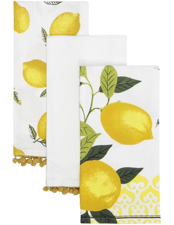 Lemon Design Tea Towels 70x50cm Set of 3 image 1