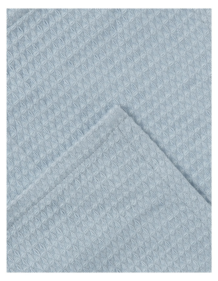 Soho Yarn Dyed Waffle tea towel set of 2 Celestial Blue image 2