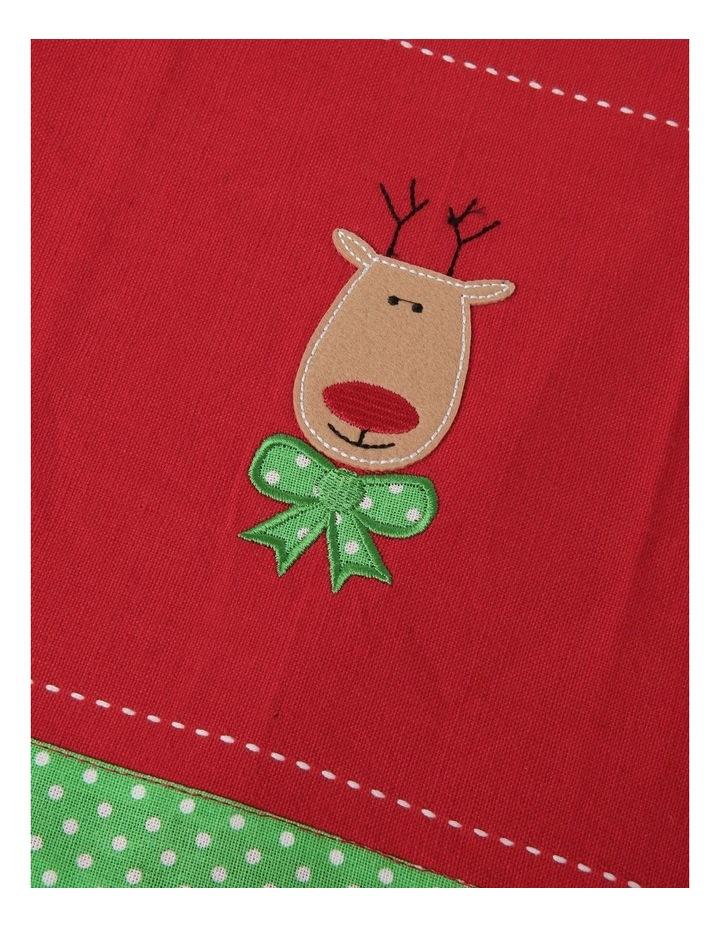 Reindeer Applique Tea Towel 2pk image 2