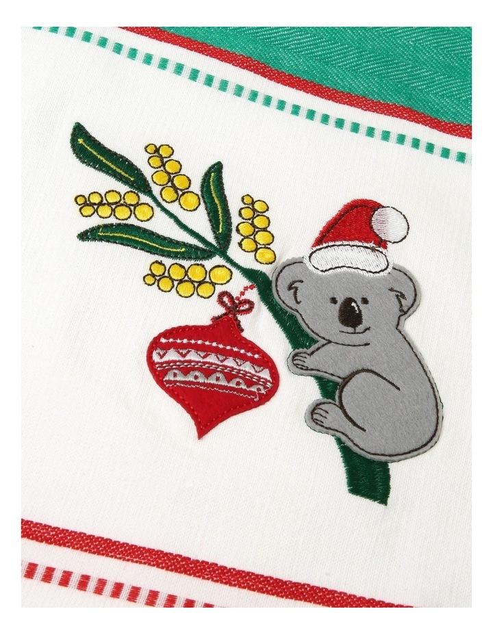Koala Christmas Applique Tea Towel 2pk image 2