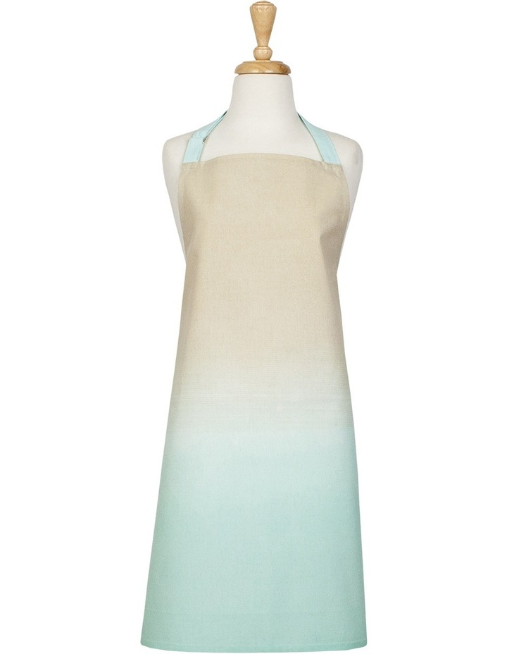 Ombre Blue Printed Cotton Apron image 1
