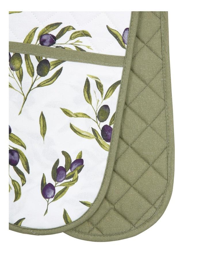 Olive Leaf Double Oven Mitt 17x88cm image 2