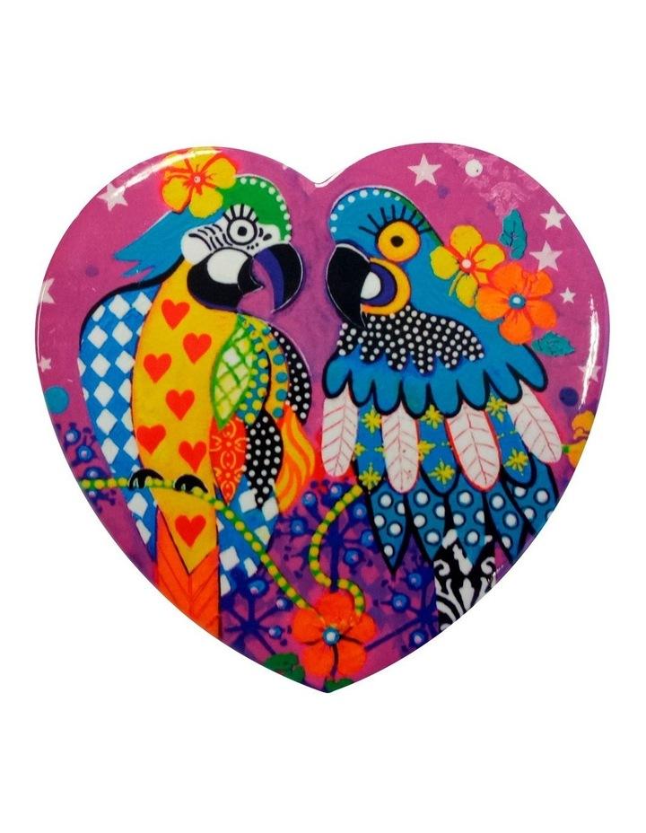 Love Hearts Ceramic Heart Coaster 10cm Araras image 1