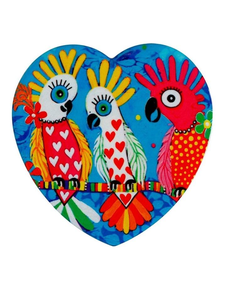 Love Hearts Ceramic Heart Coaster 10cm Chatter image 1