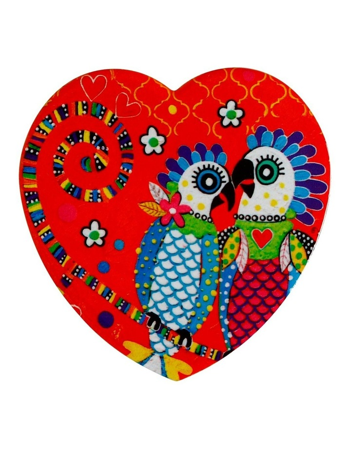 Love Hearts Ceramic Heart Coaster 10cm Fan Club image 1