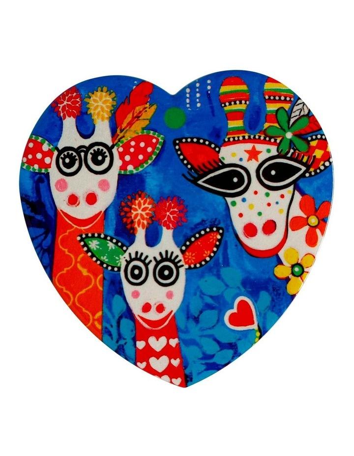 Love Hearts Ceramic Heart Coaster 10cm Mr Gift Boxed Fam image 1