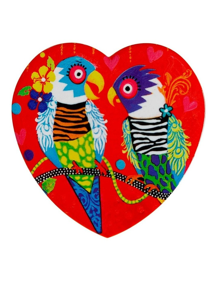 Love Hearts Ceramic Heart Coaster 10cm Tiger Tiger image 1