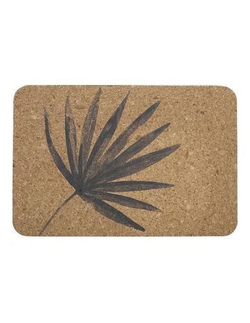 c765081632 LadelleJade Palm Charcoal Printed Cork 4pk Placemat. Ladelle Jade Palm  Charcoal Printed Cork 4pk Placemat